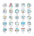 collection of digital and internet marketing flat vector image vector image