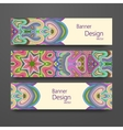 Colorful ornamental ethnic banner set vector image vector image