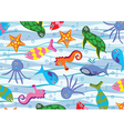 colorful sea animals vector image