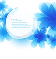 creative background of flower vector image
