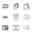 credit icons vector image vector image