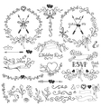 doodles floral decor vector image vector image