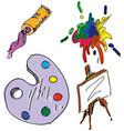 drawn colored art stuff vector image vector image
