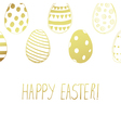 easter card gold color vector image vector image