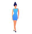 elegant fashion model in dress vector image