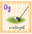 Flashcard letter G is for golf vector image vector image