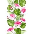 Floral linear tile design vector image vector image