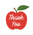 fresh apple with the text thank you vector image