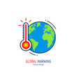 global warming icon vector image vector image