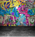 Graffiti wall urban street art painting vector image vector image