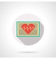 Heart monitoring flat color design icon vector image vector image