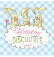 Holiday discounts vector image