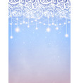 holiday lights with floral lace background vector image