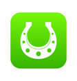 horseshoe icon digital green vector image vector image
