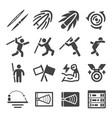 javelin throw icon set vector image vector image