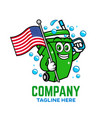 modern american patriot trash can logo vector image vector image