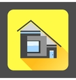 Modern residential house icon flat style vector image vector image