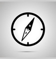 old compass simple black icon with shadow on gray vector image vector image