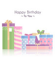 pile of gift boxes for your birthday or christmas vector image vector image