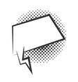pop art speech bubble empty comic cartoon vector image vector image