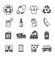 recycling garbage contains such icons as waste vector image