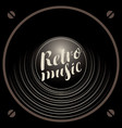 retro music banner with acoustic speaker vector image vector image