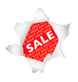 sale paper explode vector image vector image
