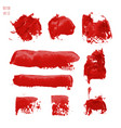set of bloody red watercolor vector image vector image