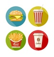 Set of flat icon with vector image vector image