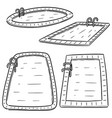 set of swimming pool vector image vector image