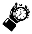 stopwatch icon simple black style vector image vector image