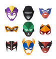 superheroes masks vector image vector image