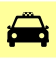 Taxi sign Flat style icon vector image