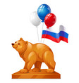 the bear statue is a symbol of power colorful vector image vector image
