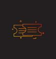 tickets icon design vector image vector image