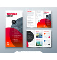 tri fold brochure design business template for vector image vector image