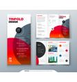 tri fold brochure design business template vector image vector image