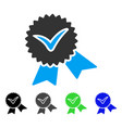 validation seal flat icon vector image vector image