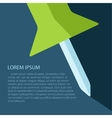 Vetor push pin icon with text Eps10 vector image