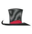 vintage top hat accessory host carnival vector image vector image