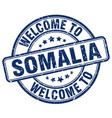 welcome to somalia blue round vintage stamp vector image vector image