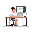 woman designer working vector image vector image