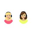 Set of women telemarketer call center operator hot vector image