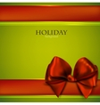 Christmas Bow Card Template vector image