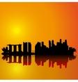 Singapore skyline Black silhouette vector image