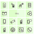 14 cell icons vector image vector image