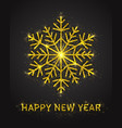 3d happy new year poster vector image vector image