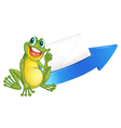 a frog and arrow vector image vector image
