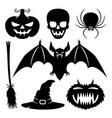 a set halloween elements vector image vector image