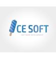 abstract icecream logo template vector image vector image